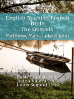 English Spanish French Bible - The Gospels - Matthew, Mark, Luke & John