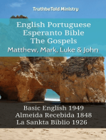 English Portuguese Esperanto Bible - The Gospels - Matthew, Mark, Luke & John