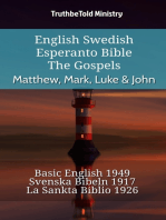 English Swedish Esperanto Bible - The Gospels - Matthew, Mark, Luke & John