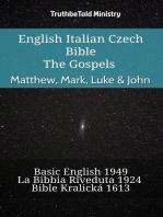 English Italian Czech Bible - The Gospels - Matthew, Mark, Luke & John