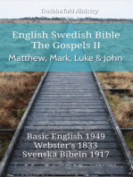 English Swedish Bible - The Gospels II - Matthew, Mark, Luke and John
