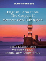 English Latin Bible - The Gospels II - Matthew, Mark, Luke and John