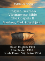 English German Vietnamese Bible - The Gospels II - Matthew, Mark, Luke & John