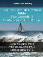 English Finnish German Bible - The Gospels II - Matthew, Mark, Luke & John