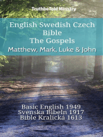 English Swedish Czech Bible - The Gospels - Matthew, Mark, Luke & John