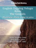 English Tagalog Telugu Bible - The Gospels - Matthew, Mark, Luke & John