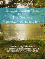 English Italian Thai Bible - The Gospels - Matthew, Mark, Luke & John