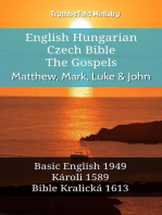 English Hungarian Czech Bible - The Gospels - Matthew, Mark, Luke & John