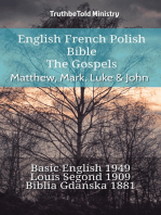 English French Polish Bible - The Gospels - Matthew, Mark, Luke & John