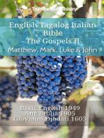 English Tagalog Italian Bible - The Gospels II - Matthew, Mark, Luke & John