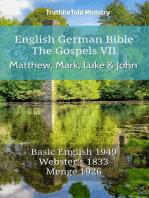 English German Bible - The Gospels VII - Matthew, Mark, Luke and John