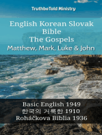 English Korean Slovak Bible - The Gospels - Matthew, Mark, Luke & John