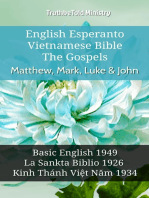 English Esperanto Vietnamese Bible - The Gospels - Matthew, Mark, Luke & John