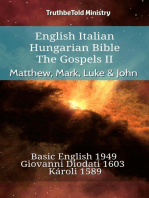 English Italian Hungarian Bible - The Gospels II - Matthew, Mark, Luke & John