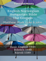 English Norwegian Hungarian Bible - The Gospels - Matthew, Mark, Luke & John