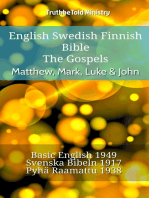 English Swedish Finnish Bible - The Gospels - Matthew, Mark, Luke & John