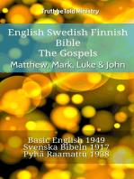 English Swedish Finnish Bible - The Gospels - Matthew, Mark, Luke & John