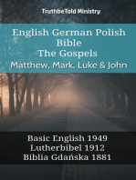 English German Polish Bible - The Gospels - Matthew, Mark, Luke & John