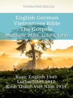 English German Vietnamese Bible - The Gospels - Matthew, Mark, Luke & John