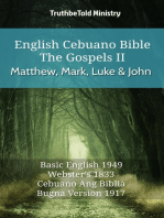 English Cebuano Bible - The Gospels II - Matthew, Mark, Luke and John