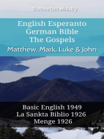 English Esperanto German Bible - The Gospels - Matthew, Mark, Luke & John