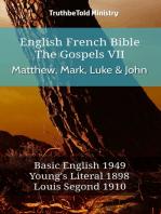 English French Bible - The Gospels VII - Matthew, Mark, Luke & John