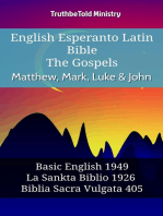 English Esperanto Latin Bible - The Gospels - Matthew, Mark, Luke & John