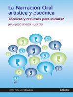 La Narración Oral artística y escénica
