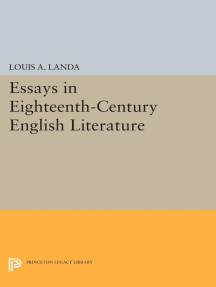 Essays in Eighteenth-Century English Literature