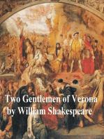 Two Gentlemen of Verona, with line numbers