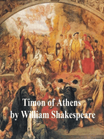 Timon of Athens, with line numbers