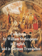 Coriolanus, Bilingual Edition (English with line numbers and German translation)