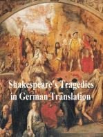 Shakespeare Tragedies in German translation