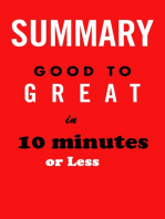 Good to Great in 10 minutes or less