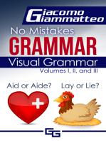 Visual Grammar, No Mistakes Grammar, Volumes I, II, and III