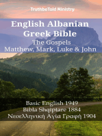 English Albanian Greek Bible - The Gospels - Matthew, Mark, Luke & John