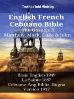 English French Cebuano Bible - The Gospels II - Matthew, Mark, Luke & John