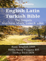 English Latin Turkish Bible - The Gospels - Matthew, Mark, Luke & John
