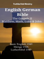 English German Bible - The Gospels II - Matthew, Mark, Luke & John