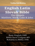 English Latin Slovak Bible - The Gospels - Matthew, Mark, Luke & John