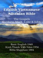 English Vietnamese Albanian Bible - The Gospels - Matthew, Mark, Luke & John