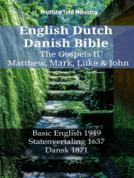 English Dutch Danish Bible - The Gospels II - Matthew, Mark, Luke & John