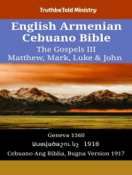 English Armenian Cebuano Bible - The Gospels III - Matthew, Mark, Luke & John