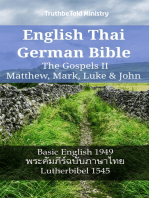English Thai German Bible - The Gospels II - Matthew, Mark, Luke & John