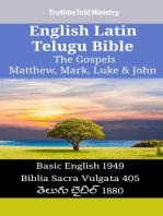 English Latin Telugu Bible - The Gospels - Matthew, Mark, Luke & John