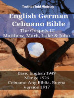 English German Cebuano Bible - The Gospels III - Matthew, Mark, Luke & John