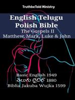 English Telugu Polish Bible - The Gospels II - Matthew, Mark, Luke & John