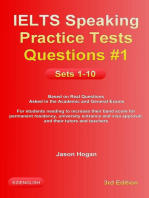 IELTS Speaking Practice Tests Questions #1 Sets 1-10