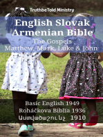 English Slovak Armenian Bible - The Gospels - Matthew, Mark, Luke & John