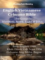 English Vietnamese Cebuano Bible - The Gospels - Matthew, Mark, Luke & John